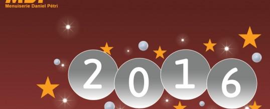 MDP vous souhaite une Bonne et Heureuse Année 2016 !