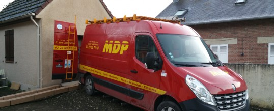 Nouvelle réalisation MDP : Porte de Garage Sectionnelle à Vauxbuin (02)
